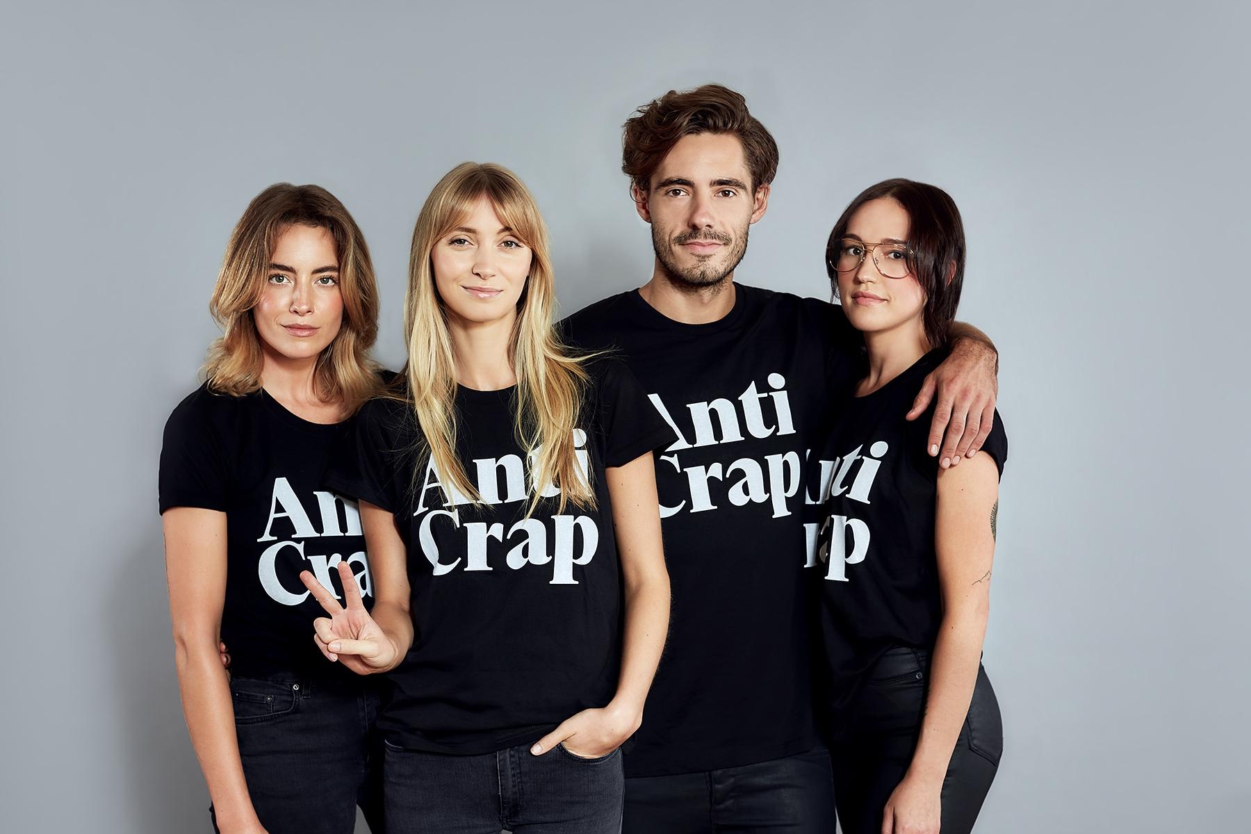 models in anti-crap tees