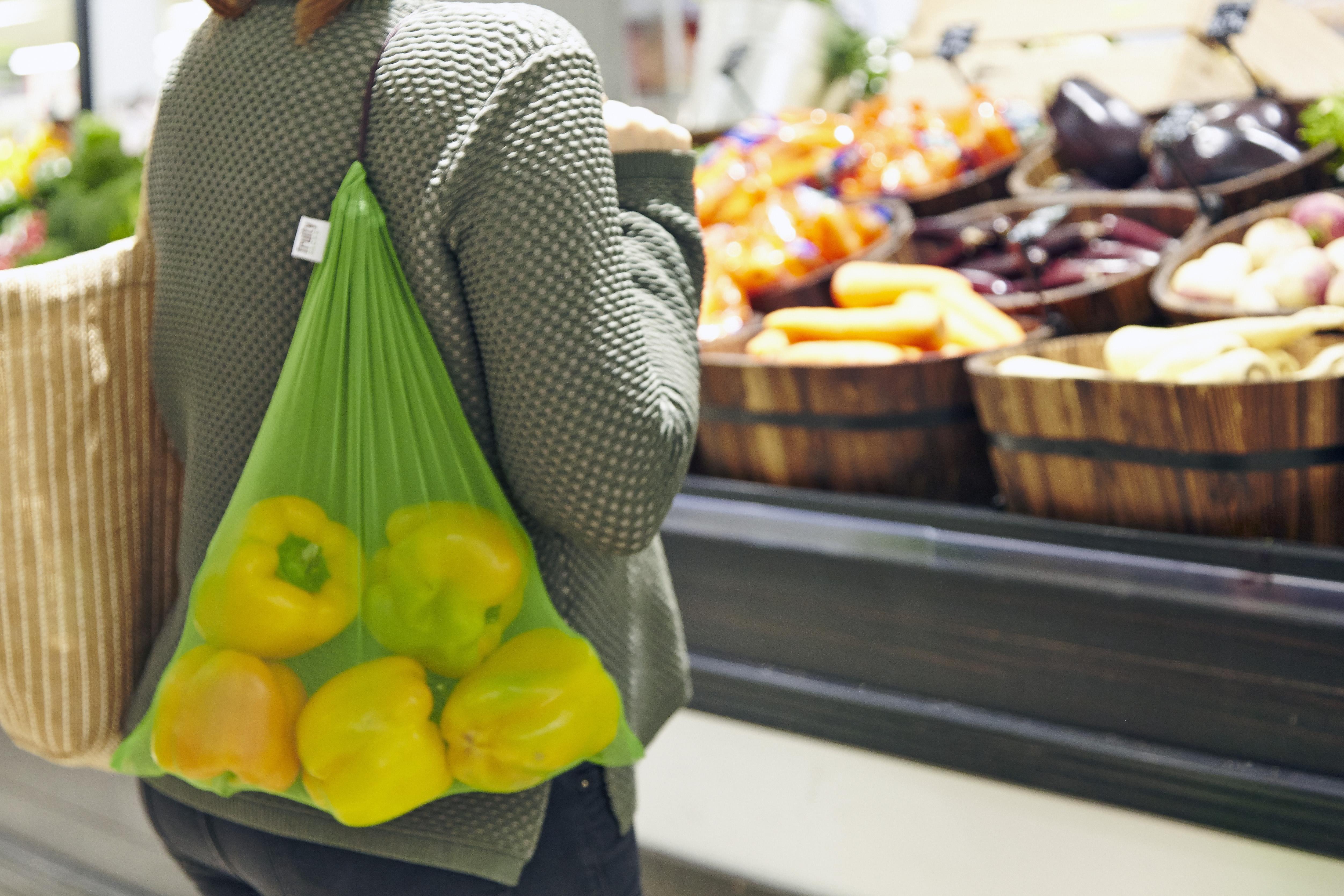 using fruity sacks over shoulder