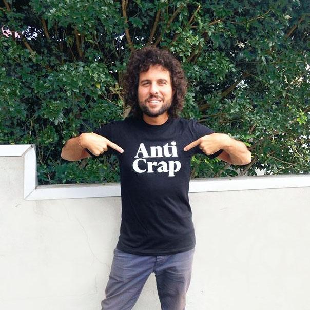 paul in anti-crap tshirt